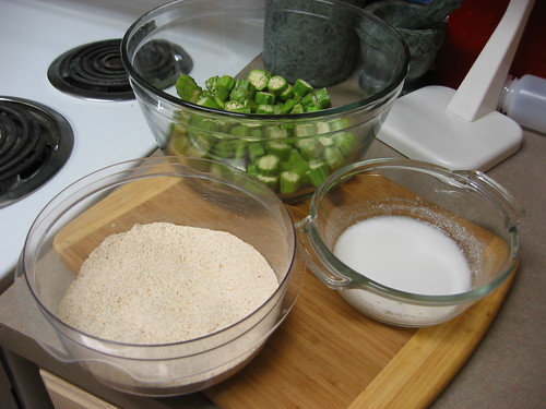 Fried Okra Setup