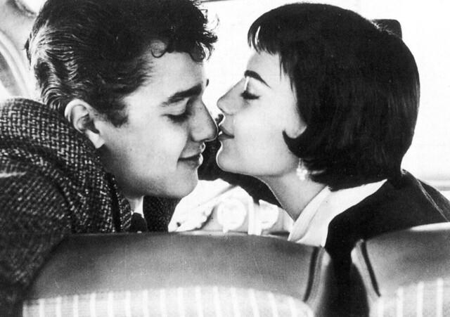 Sal Mineo and Natalie Wood