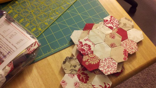 hexagons for christmas table runner