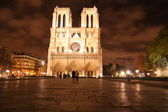 towers of notre dame (xc_marin) Tags: travel paris france seine night canon europe cathedral europeanvacation champs churches noflash notredame elysee riverseine tokinaaf1650mmf28 nightshotsofeurope