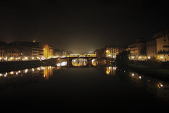 Welcome to Florence (Halandir) Tags: italy canon river florence italia fiume firenze luci arno toscana pontevecchio 1855is