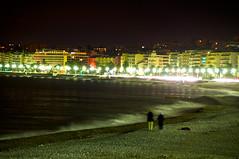 View of the bay in Nice, by night (LimeWave Photo) Tags: travel france beach night french bay nice mediterranean riviera view nightshot côtedazur promenade nizza baie promenadedesanglais alpesmaritimes républiquefrançaise baiedesanges limewave