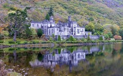 Kylemore Abbey, Ireland - Mainistir na Coille Mire, ire ( reflection!) (Sir Francis Canker Photography ) Tags: trip travel ireland panorama irish color reflection castle galway tourism abbey architecture twilight europa europe shot picture dramatic peaceful visit icon tourist medieval eire best haunted spo