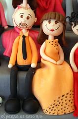 Modelado pareja naranja en azúcar