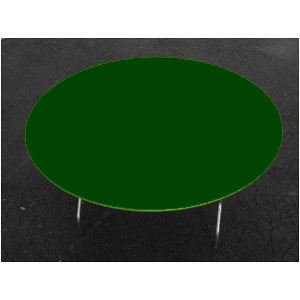 Round Green Plastic Elastic Table Cover