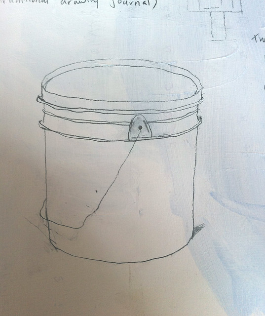 gesso bucket in studio 20101120, marlene angeja