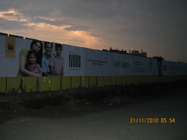 Sobha Ivory, 3 BHK Flats at NIBM-Kondhwa, Pune - compound wall