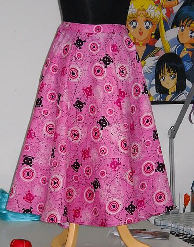 Pink Skull Skirt