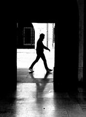 Dove vai? (Violserg) Tags: bw men silhouette universit uomo porta controluce padova