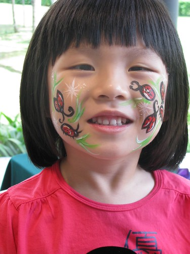Temporary Face Tattoos. Face Painting - Lady Bugs