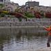 Pêche au bord de la rivière Kamo