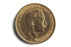 20 Mark Wilhelm II (presse_cfc2) Tags: germany gold coin german empire kaiser reich deutsches prussia goldmark wilhelmii deutschesreich geldstck kaiserwilhelmii 20mark goldmnze preusen