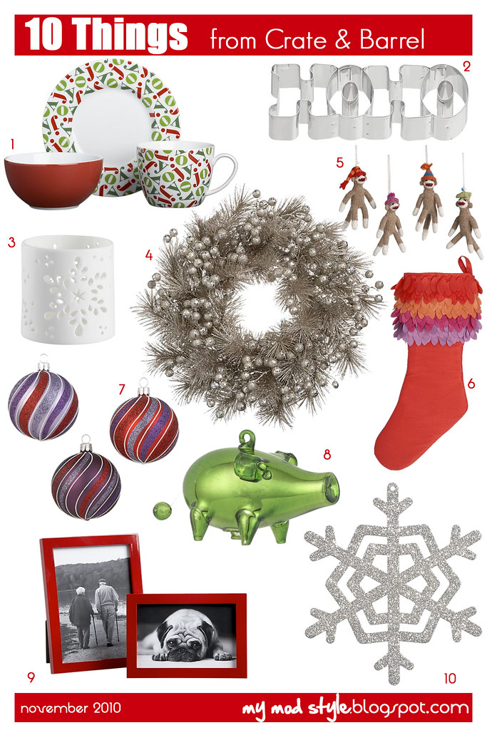 10 things holiday crate & barrel 2010