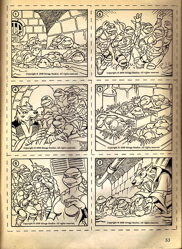 "RANDOM HOUSE :: ""Ninja Turtles: The Next Mutation"" COLORING & ACTIVITY BOOK .. pg.53 (( 1998 ))"