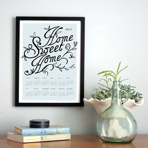 2011 Poster Calendar, Home Sweet Home,  by Michelle Smith