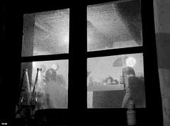 Tsipouro time 2010 (XII) (teo58-) Tags: bw window night island still greece distillery paros raki souma naoussa tsipouro