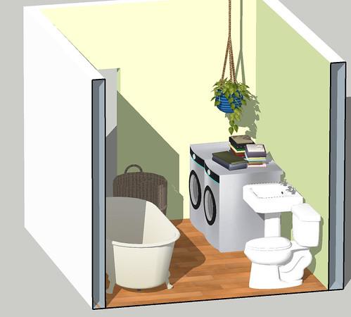 bathroom mockup