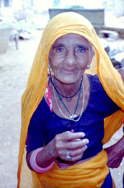 Grand mother in India