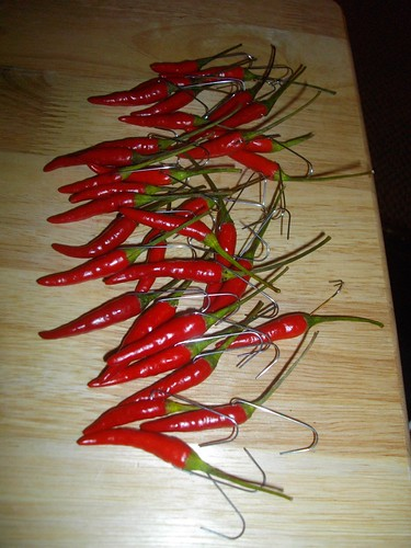 Chili Pepper Christmas Tree Ornaments