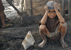 Lost childhood (DirtyTrick) Tags: poverty boy kids work labor documentary social dirty charcoal stress reportage tondo ulingan
