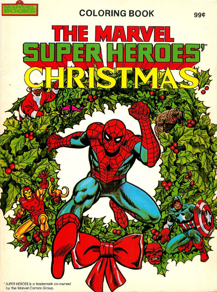 marvel christmas coloring00001