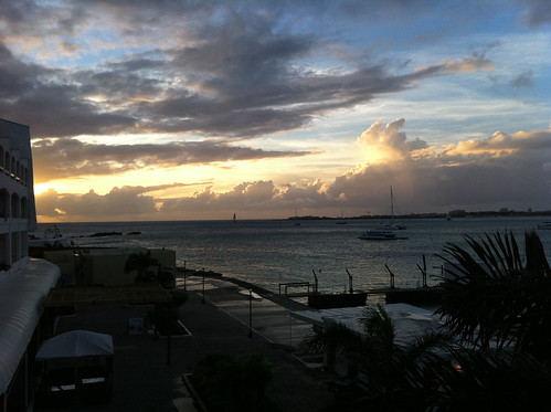 Sunset view, Simpson Bay
