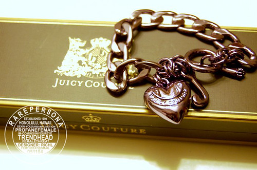 Juicy Couture Purple Charm Bracelet
