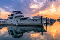 Burnham Harbor - Sunrise 3-1180.jpg (BER Photos 76) Tags: tophatt goldenhour yacht summer downtown lakemichigan sky boats reflection clouds sunrise chicago burnhamharbor