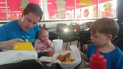 """Daddy, Dani, and Paul Eat at Burgerboard in Jacksonville • <a style=""""font-size:0.8em;"""" href=""""http://www.flickr.com/photos/109120354@N07/35311341040/"""" target=""""_blank"""">View on Flickr</a>"""