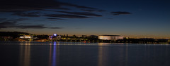 Lake Burley Griffin - 8537 (longreach) Tags: canberra cityscape city night lights library lake water