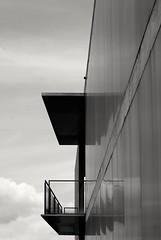 (amargureiro) Tags: blackandwhite bw byn architecture contrast buildings diagonal minimalistic nikond80 monocrome cityscape city pontevedra galicia sky