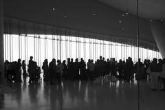 Meeting (Francisco (PortoPortugal)) Tags: 1552017 20160917fpbo4008 cruiseterminal terminaldecruzeiros leixões matosinhos porto portugal pb bn bw monochrome luz light shadows sombras pessoas people portografiaassociaçãofotográficadoporto franciscooliveira