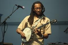 Rhiannon Giddens (2017) 09 - Hubby Jenkins (KM's Live Music shots) Tags: americana unitedstates hubbyjenkins rhiannongiddens banjo neworleansjazzheritagefestival bluestent fairgroundsracecourseneworleans