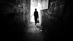 Seeing the light #streetphotography #blackandwhite #urban #city #dublin #mobile #samsung #sgs7edge #street #woman #tunnel #light (Giuseppe Milo (www.pixael.com)) Tags: blackandwhite street light samsung mobile city dublin woman tunnel streetphotography sgs7edge urban
