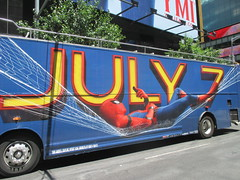 Spider-Man Homecoming Bus Ad 2017 NYC 8277 (Brechtbug) Tags: spiderman homecoming bus ad movie poster billboard 49th street 7th avenue 2017 nyc super hero marvel comic comics character spider man new york city film billboards standee theater theatre district midtown manhattan amazing home coming ads advertising hammock cel phone cell mobile cellphone
