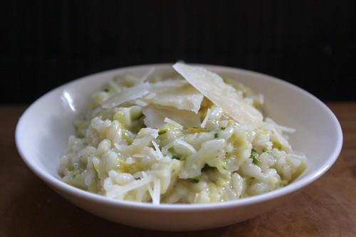 zucchini & summer squash rissoto