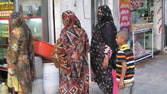 Bandari family -- woman with mask (Ben Piven) Tags: persian clothing iran metro islam culture persia nomad shiraz bazaar tehran esfahan citypark yazd shiite zoroastrian qom chador hejab bandari seyyed