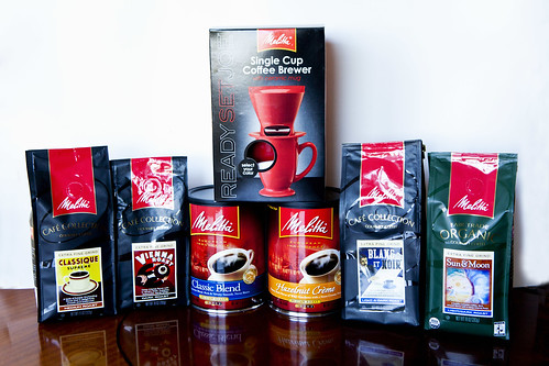 Melitta's products (coffees and their singe cup brewer)