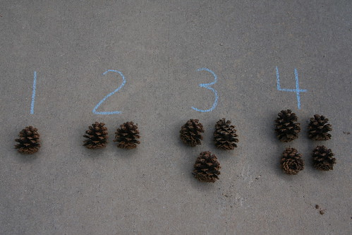 Montessori Outdoors: Numbers and Counters