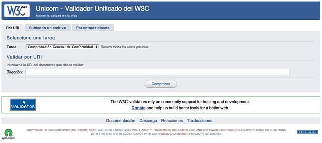 Unicorn, el validador de validadores del W3C