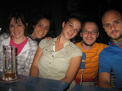 autoscatto con gli amici di Bolzano