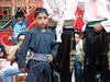 Enfant palestinien dansant la dabka, Beit Ummar, 25/7/10