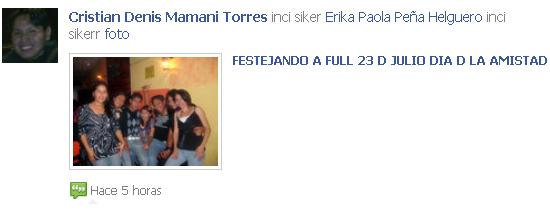 Facebook screenshot inci siker