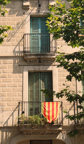 flag of spain 2010. Catalonian flag; Barcelona