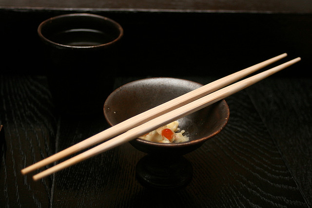 Even the double-ended chopsticks are imported from Japan