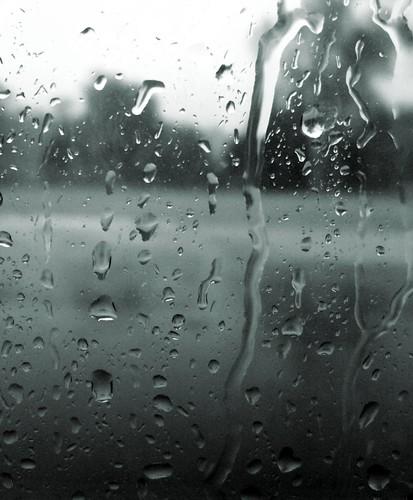 aqua raindrops