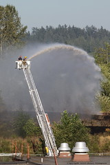 Burnaby Mountain Fire July 29, 2010 (DragonSpeed) Tags: canada water bc brush hose burnaby forestfire burnabymountain wildfire firegrass july292010 fireladderfire