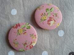 Pink Rose on Dusky pink (Lilies and Daisies) Tags: magnets badges compactmirrors