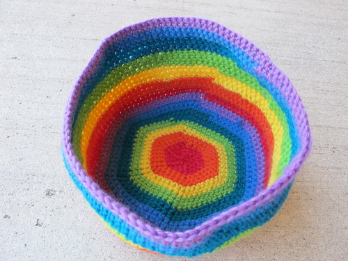My finally finished rainbow bowl