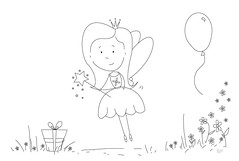 Fairy Party colouring sheet